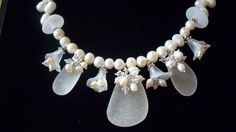 Sea Glass Necklace  Beach Glass Bridal Wedding by TheMysticMermaid