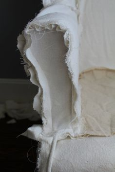 How to Sew a Slipcover for a Wingback Chair - Farmhouse on Boone