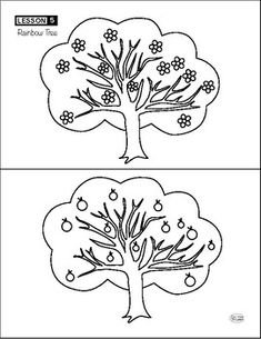 Flowers to Fruit: Rainbow Tree Science Worksheets, Different Colors, Trees, Rainbow, Fruit, Learning, Creative, Flowers, Plants