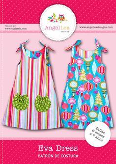 Seguro que muchas de vosotras recordáis el vestidito reversible que hicimos con nuestras telas a partir de un patrón de Angel Lea Designs. Muchas habéis sido las que habéis visitado el artículo &#8…