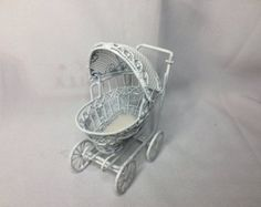 Dollhouse Miniature 1 Scale Baby Carriage PT by MiniEstates
