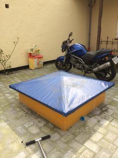 Sandbox and cover DIY
