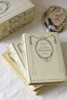 Set of 3 French Antique/Vintage Decorative Nelson Books