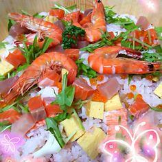 具材をたくさん入れてると、美味しいね(*^◯^*) - 33件のもぐもぐ - ひな祭りちらし寿司 by taekoko