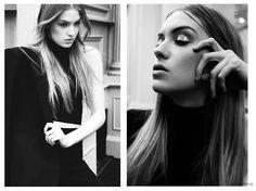 Molly at Major Models in Ellements Magazine October 2013