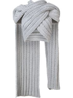 """Christian Siriano Gestricktes Cropped-Top im Wickel-LookBoho Tops Shawl Knit Sweater Long Top Pullover Knit WrapCape Poncho Shrug Shawl in Crochet """"Ma Cropped Tops, Christian Siriano, Knit Wrap, Scarf Wrap, Mode Ab 50, Crop Top Styles, Grey Crop Top, Knitwear Fashion, Street Style"""