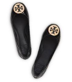 b8f38d1f9042 QUINN QUILTED FLAT- BLACK GOLD Ballerina Flats
