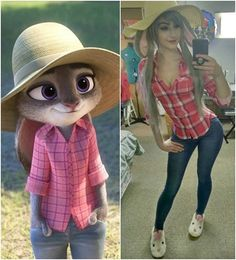 Inspiration & Accessoires: Zoomania Judy Hopps Kostüm Make Up selber machen disfraces dibujos Zoomania Judy Hopps Kostüm selber machen Disney Cosplay, Anime Cosplay, Cute Cosplay, Amazing Cosplay, Cosplay Outfits, Halloween Cosplay, Best Cosplay, Cosplay Girls, Zatanna Cosplay