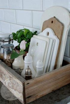 Rustic Kitchen Caddy -Reclaimed Wood Style Caddy- Wood kitchen Tray – Barn Wood – Farmhouse – Country Decor -Cottage Chic -Rustic Home Decor - Rustic Home Decor Country Kitchen Caddy, Kitchen Tray, Wooden Kitchen, Home Decor Kitchen, Kitchen Organization, Kitchen Storage, Kitchen Ideas, Organization Ideas, Storage Ideas