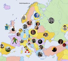Most Popular Fictional Character From Each Country