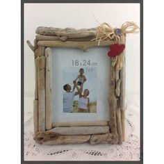 Cadre Photo bois flotté ref 022 Appliques, Photos, Frame, Diy, Home Decor, Cadre Photo, Frames, Board, Riveting