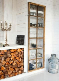 Love the old window as the cabinet door - sublime-decor