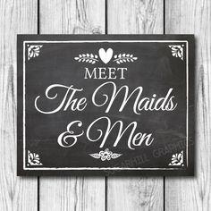 Chalkboard Wedding Sign Printable Wedding by SugarHillGraphics, $5.00