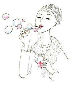 <3 My Bubbles, Blowing Bubbles, Soap Bubbles, Illustrations, Illustration Art, Iris, My Little Paris, Cute Art, Art Drawings