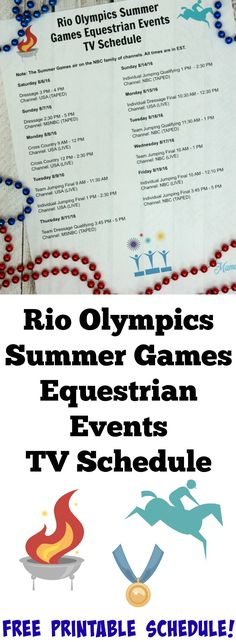 picture relating to Olympics Tv Schedule Printable identified as 46 Least difficult Getaway Occasions: Olympics Snack and Game Guidelines
