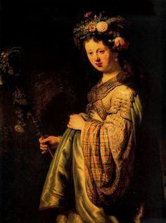 Saskia as Flora, Rembrandt