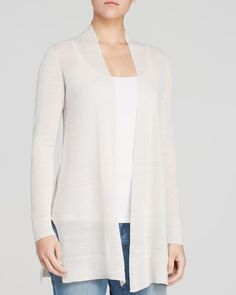 Eileen Fisher Straight Open Cardigan