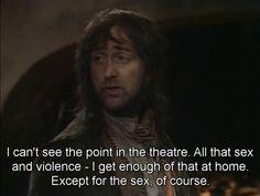 Oh Baldrick.  The Blackadder