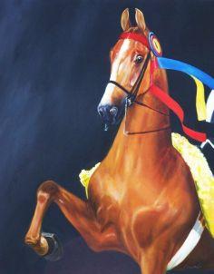Horse Art: Saddlebred painting, Blackberry Delight by Janet Crawford || EquineArtwork.com