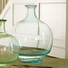 Love these glass jugs!