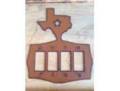 Texas Quad Rocker Lightswitch Cover