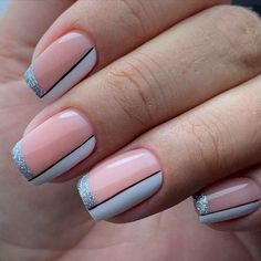 Best Acrylic Nails, Acrylic Nail Designs, Hot Nail Designs, Hot Nails, Hair And Nails, Nail Art Designs Videos, Fire Nails, Fancy Nails, Glitter French Nails