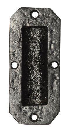 Kirkpatrick Black Antique Ironwork Flush Door Pull 117x50mm At Door furniture direct we sell high quality  sc 1 st  Pinterest & Kirkpatrick Black Smooth Iron Flush Pull Handle 4327 At Door ...