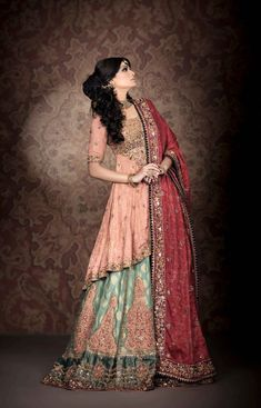 Luxurious & Glamorous Bridal Wear By Nilofer Shahid 2013