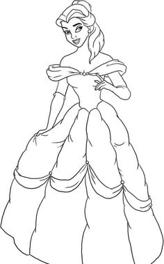 Disney Princess Ariel Was Wearing Dress Coloring Page