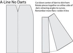 Image result for how to make an a line skirt