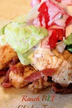Ranch BLT Chicken Tacos by Sandra Henslee