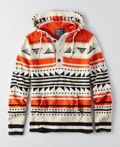 AEO Baja Sweater, Men's, Orange