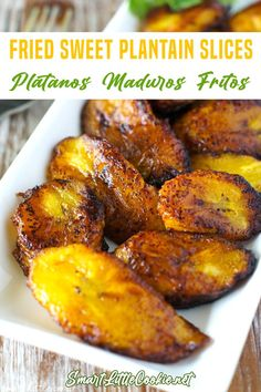 Sweet Fried Plantains, How To Cook Plantains, Jamaican Fried Plantain Recipe, Jamaican Dishes, Jamaican Recipes, Mexican Food Recipes, Dinner Recipes, Haitian Food Recipes, Dessert Recipes