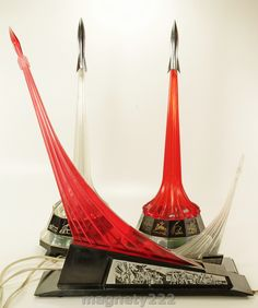 Set of soviet lamps inspired in the Space Race in the sixties.