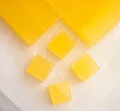 Ginger Lemon Gummy Squares