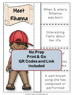 Get to know more about musician Rihanna with this Music Listening and Research Foldables. This is an excellent addition to your Listening lessons! Completed foldables can be pasted into student workbooks/listening journals OR displayed on a bulletin board. #mtr #musicteacher #musiced #musiceducation #musicteacherresources