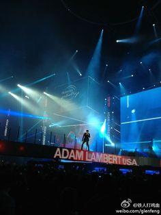 Adam Lambert  China tour 2013  From ww3.sinaimg.cn