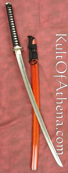 Dynasty Forge Daimyo Tamahagane Katana - Bamboo Theme Katana, Swords And Daggers, Knives And Swords, Martial Arts Weapons, Sword Design, Japanese Sword, Samurai Swords, Cool Gear, Tactical Knives