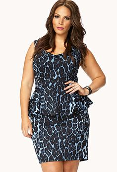 Sophisticated Leopard Peplum Dress | $23