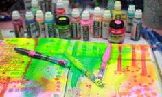 If you've never used daubers to create patterns in your art (or if you already love incorporating their flashy colors), you'll want Bright Ideas from Jane 'Danger' Davenport for helpful tips and inspiring art.