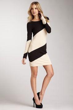 Long sleeved mini dress