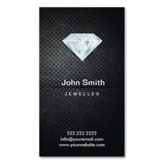 Pure Diamond Jeweller Dark Metal Business Card. I love this design! It is available for customization or ready to buy as is. All you need is to add your business info to this template then place the order. It will ship within 24 hours. Just click the image to make your own!
