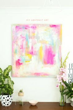 DIY Abstract Artwork – Furniture Hacks | Fall For DIY | Bloglovin'