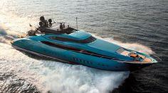 Blue mega yacht! LOVE this color