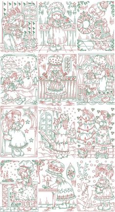 Charming Red and Green Sue | Machine Embroidery Designs By Sew Swell