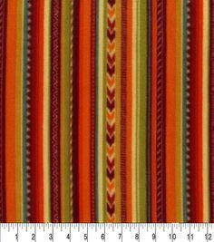 Anti-Pill Fleece Fabric-Autumn Stripe