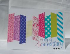 Colorful Rainbow Happy Anniversary Card by PlaysNicelyWithPaper, $4.00
