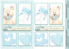 Congratulations Baby Boy with Decoupage Bits on Craftsuprint - Add To Basket!