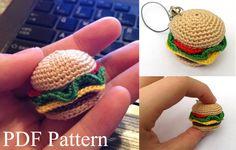 Mini Hamburger Amigurumi Pattern by ObligationalOctopus on Etsy, .00