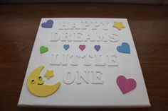 Happy Dreams Little One  Kids Wall Art by SuSuzTreasures on Etsy, $25.00